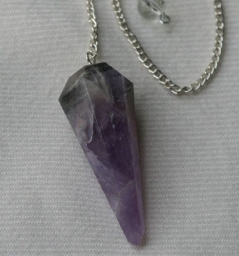 Purple Fluorite Crystal Gemstone Dowsing Pendulum